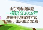 山东高考模拟一模潍坊语文2018年含答案可打印(山东和全国1卷)