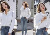 白色紧身裤子怎么搭配