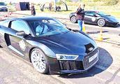 兰博基尼、日产GTR与奥迪R8同场竞速,看起步就知它基本无敌了!
