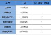 荣威950、红旗H7并列倒数第一,盘点几款1月销量最差的车