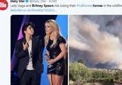 加州山火肆虐豪宅被毁 LadyGaga将获赔4200万美元
