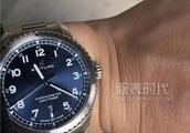 百年灵黑鸟和航空计时8大三针蓝盘腕表