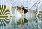 湖南云台山玻璃桥,不仅刺激,竟然还拍出了天空之镜的效果