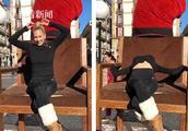 美女柔术演员街头表演失误 鼻子撞上椅子当场流血