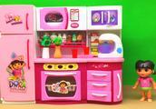 爱探险的朵拉小家居系列玩具 DORA橱柜电冰箱