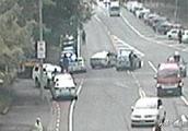 新西兰警方抓捕基督城枪杀案凶手照曝光,当街将凶手按倒在地