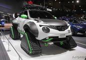 日产这款小车像火星车,不需要轮胎,车顶还可停放无人机