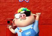 猪年就要到了,以猪猪各种可爱的形态制作的姓氏手机壁纸,萌萌哒