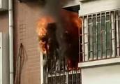 """郑州一住户家着火,屋内物品几乎被烧光,""""罪魁祸首""""疑似一盏台灯"""