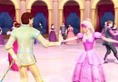 王子选戴面具的歌琳一起跳舞,真的是缘分啊,看起来好般配
