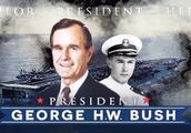 老布什二战期间参战被击落后得到营救的动画重现