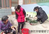农村婆婆腌黄瓜一打开袋子直呼上当了,大娘说这买的是啥玩意呀