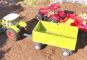 亲子益智吉普车、挖掘机、大拖车玩具装链条