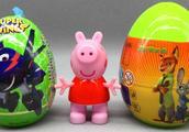 小猪佩奇拆超级飞侠铁壳玩具蛋 疯狂动物城奇士惊喜蛋