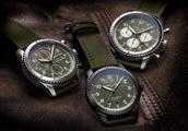 百年灵新出三款军绿色飞行员8柯蒂斯战鹰腕表,入门不到3万元