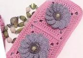 教你编织时尚祖母方格钱包 手工编织