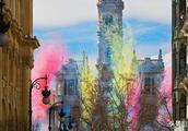市政厅广场上庆祝的烟花,西班牙用玩火的方式来庆祝春天来了