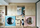 这对80后夫妻,把不到70平的家装成了孩子的游乐场,惊艳设计圈