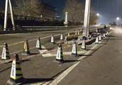 北京东便门桥兰博基尼撞匝道栏杆 一男子脸部擦伤送医