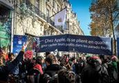 苹果公司在巴黎开店被抗议 抗议者:赶紧交税!