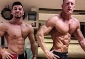 50岁父亲和儿子互相鼓励减肥,一年后超有型