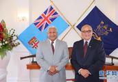 斐济总理姆拜尼马拉马宣誓就职