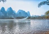 桂林阳朔兴坪古镇到相公山路上周边的美景