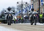 规模不小!芬兰举行独立101周年阅兵