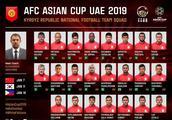 吉尔吉斯斯坦亚洲杯23人名单:半数出自同一队