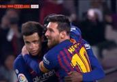 国王杯-梅西传射登贝莱双响 巴萨总比分4-2莱万特进8强