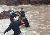 有人要跳海!风急浪高,气温接近零度!生死一线,他们跳入海中救下女子
