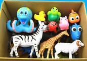 益智学习生物的名称和颜色:猴子 海豚 河马