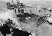 二战惨烈实录:美国航母遭日军重创珍贵老照片