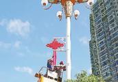 三明市区安装中国结景观灯,集中在这个路段