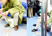 男子地铁上吃小龙虾随地乱吐,乘务员劝阻还叫嚣:不犯法