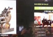 疑似圆明园流失龙首在法国拍出240万欧元,真伪仍存疑