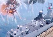 红海行动:敌方公然向我舰开炮,舰长立即拦截,直接炸掉了敌人