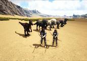 方舟生存进化-VS系列 和妹子骑千里马比赛玩射箭