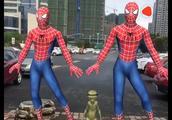 超级蜘蛛侠跳琵琶行,还有一个外星人,这操作不服不行!