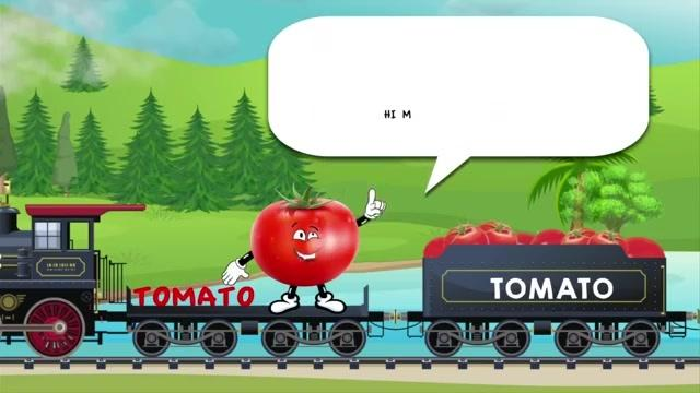 英文经典train about vegetables