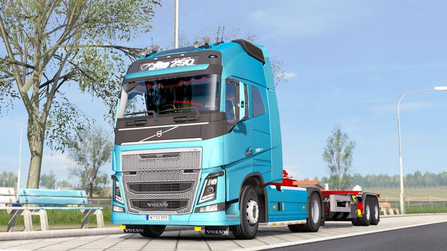 欧卡2MOD分享:New Volvo FH16 Accessories + Interior V4 Fix