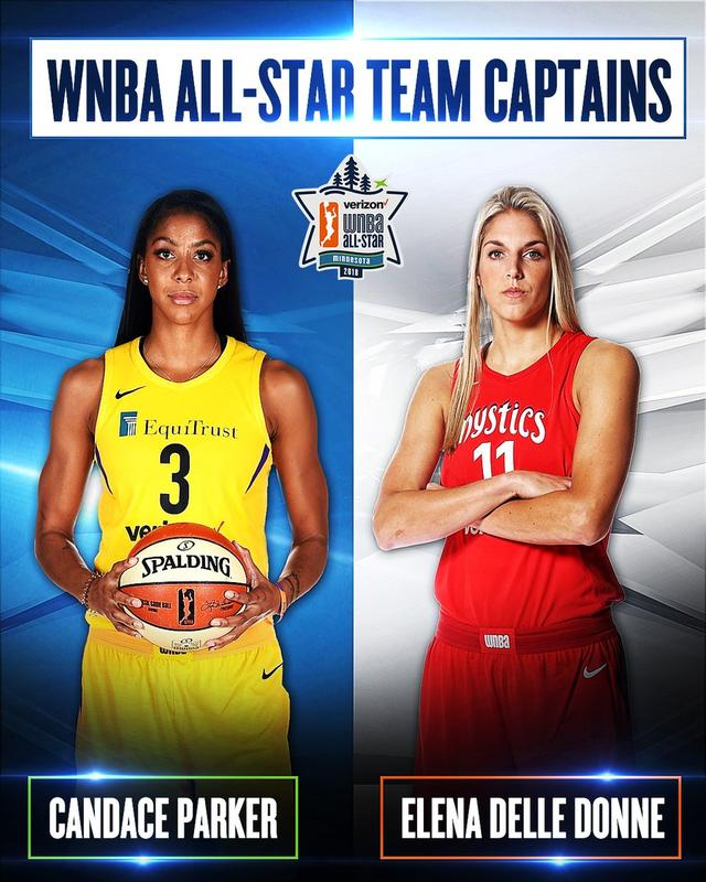 2018 WNBA All Star:坎迪斯·帕克 and 艾琳娜·戴尔·多恩