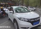 西湖畔:汽车违停人行道乱象屡禁不止